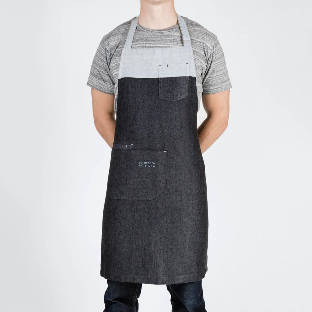 The Rowan Apron  - $85 - Handmade in Northern Ireland from Irish linen with adjustable brass slide, waist ties, and pockets.
