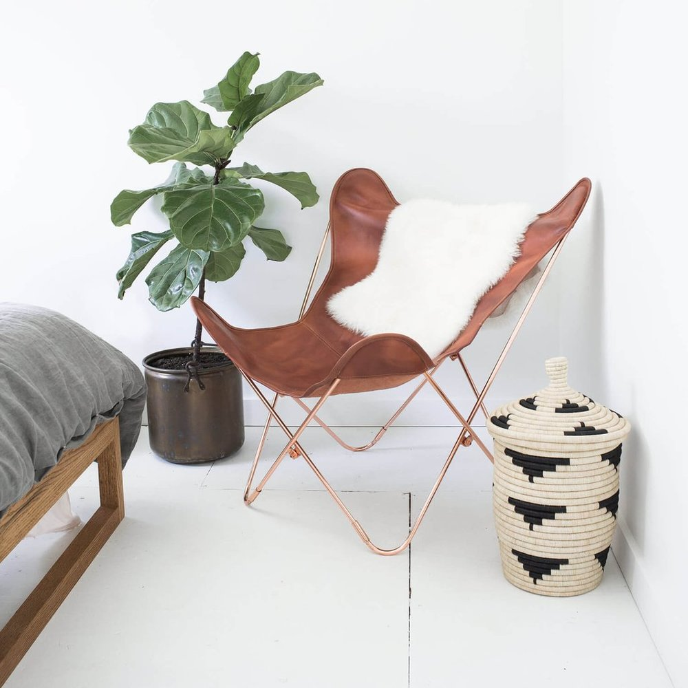 Sheepskin Throw  - $95 - Made in Argentina from ethically-sourced sheepskin that is a by-product of the local meat industry. And, yes, Citizenry does sell that chair as well!