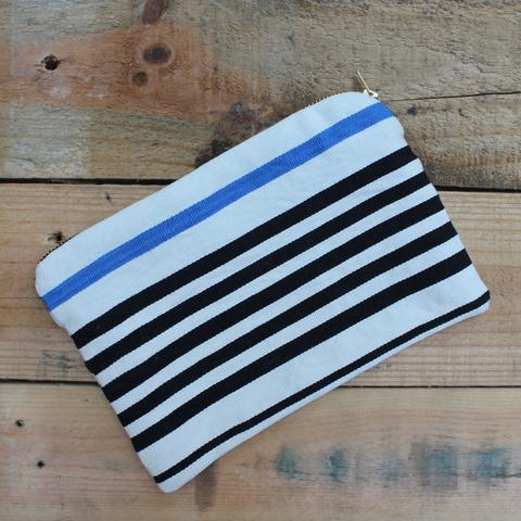 Lola Clutch - $55 - Handwoven in Guatamala of cotton, gold zipper