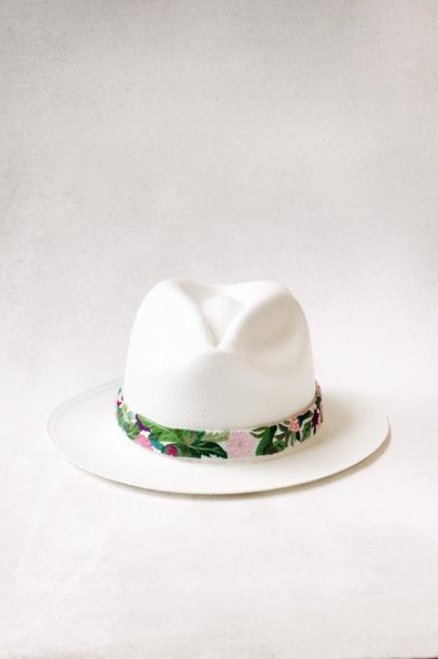 Floral Panama Hat  - $150 on sale - 2 sizes available (click the link to see)