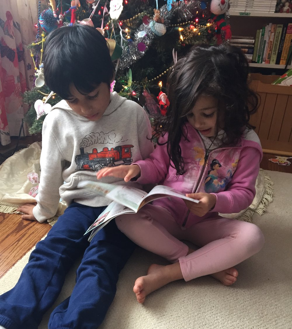 My kids selecting the perfect gift....keep reading to find out what they're looking at!