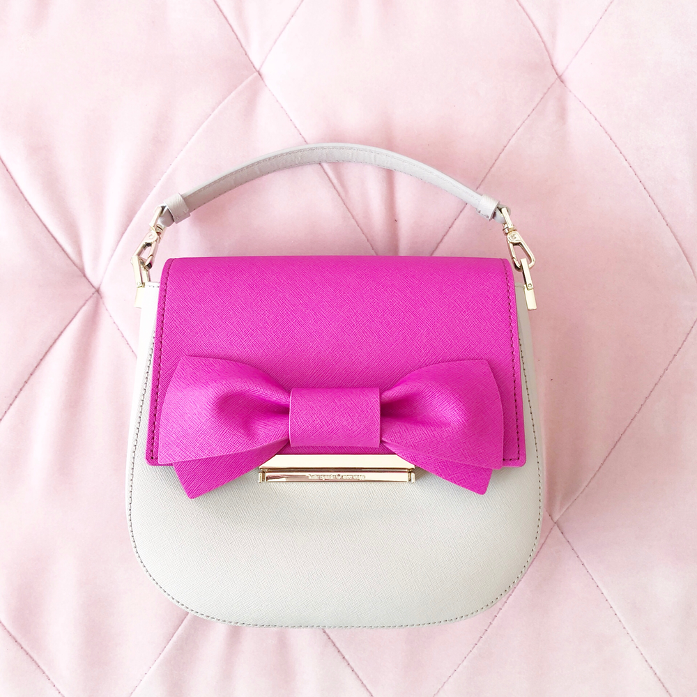 KATE SPADE - Kate Spade is among my top 3 favorite brands. This Make It Mine Byrdie handbag is adorable! I love making it mine by adding the pink bow flap. It's so fun to change and customize your purse with all of the different snap-ons! PS: I even have a fur leopard snap-on!