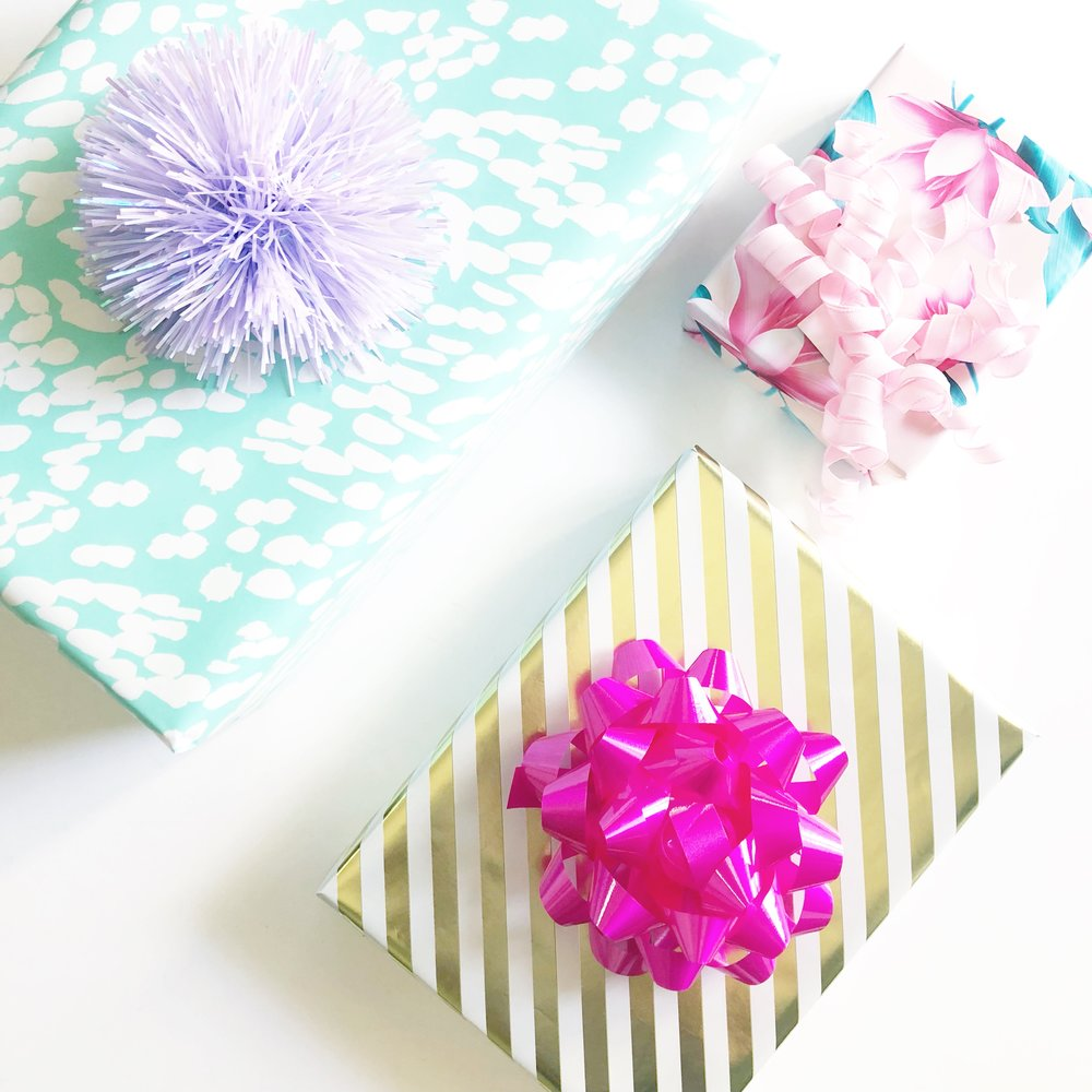 - Stock up on your boxes, Dolls. I love to have a range of boxes for all shapes and sizes. Instead of throwing a pair of earrings in with the cute sweater, I wrap them separately. The more boxes, the more abundance! It adds more visual dimension. More for the eye to behold!
