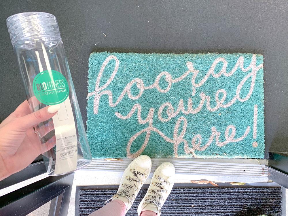 Even her welcome mat is encouraging!