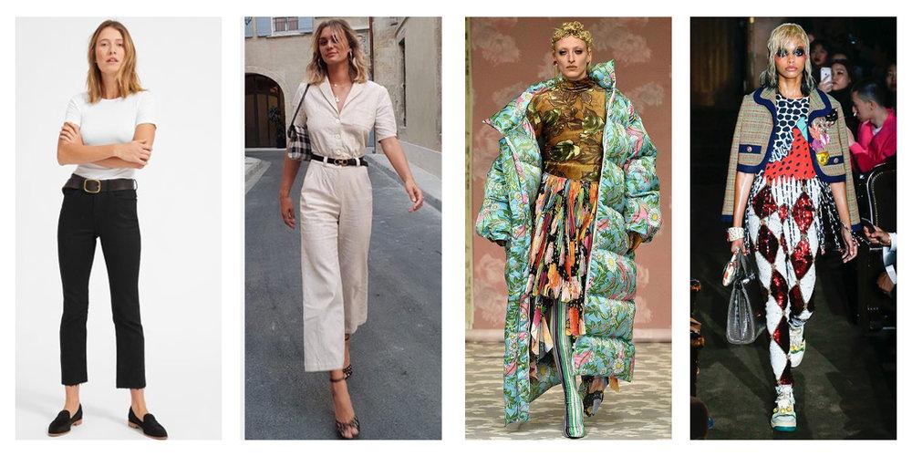 Clean minimalism vs. decorative maximalism: Everlane, WWW, Richard Quinn, Gucci
