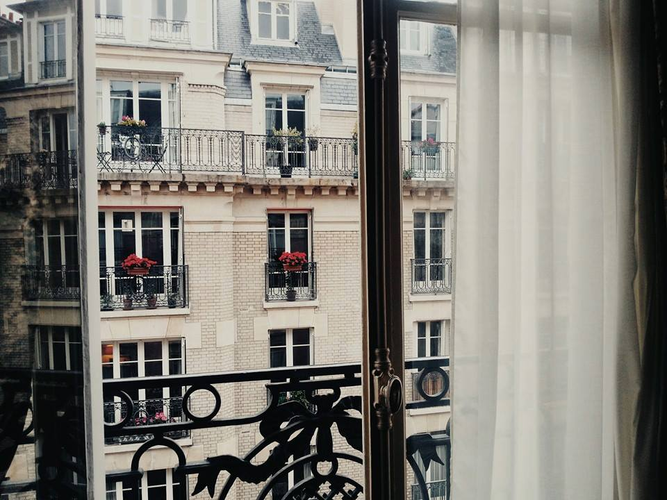 A photo from the first day we arrived at the hotel we stayed in (Paris).