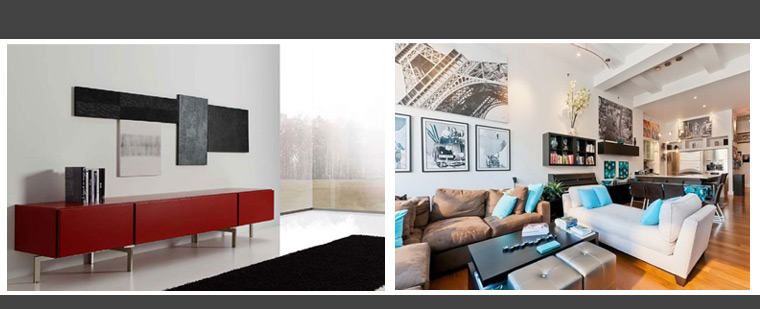 Do you love the minimilist look or do you love a wall hung from floor to ceiling?