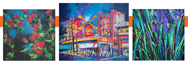 Starr  -- Roses are Red -- Moulin Rouge -- Iris -- Starr's work is available at Red Hill Gallery | Brisbane