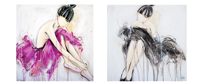 Starr --- Beyond Pink --- Black Swann ---  Starr's work is available for purchase at Red Hill Gallery