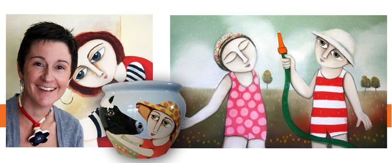 Danielle McManus - Her colourful, figurative offerings provide viewers with thought-provoking images.