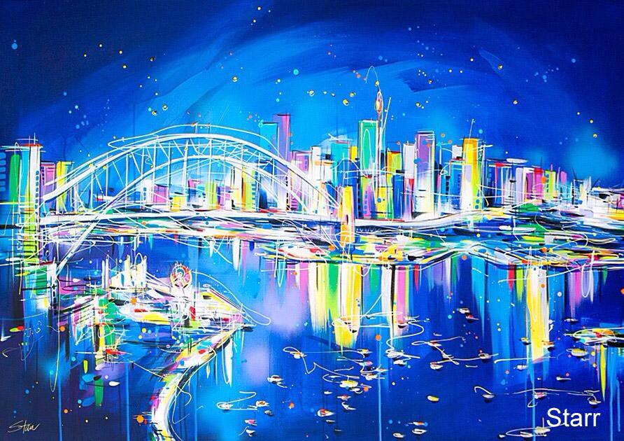 Starr Dynamic Sydney Harbour ' 150cm x1mt   copy