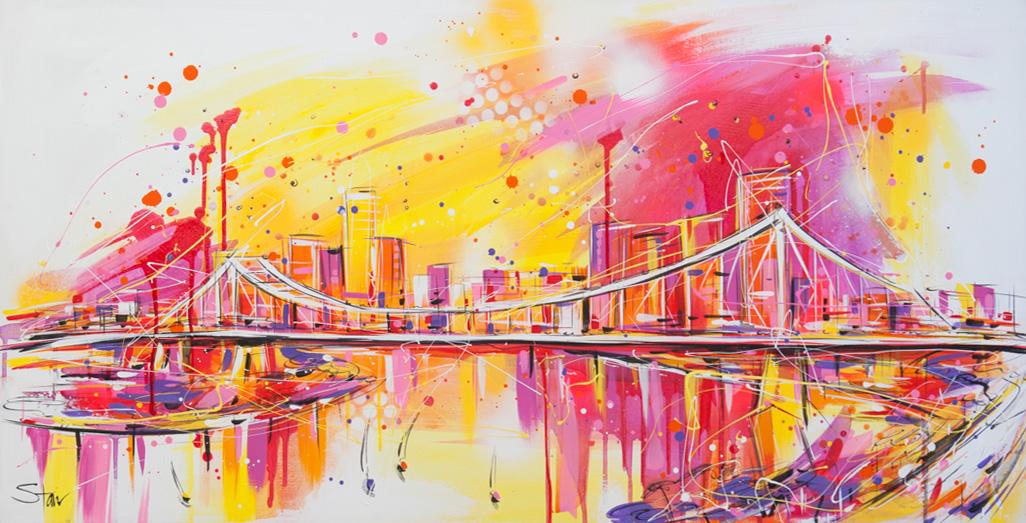 Starr 39950 Painterly Pop Brisbane 120x60cm