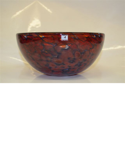 Monet Bowl Cherry and Dark Blue