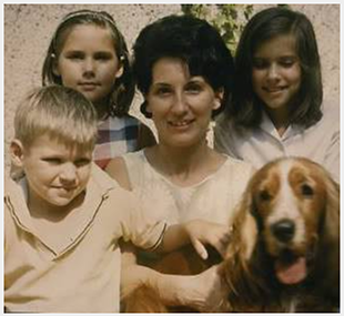 mark, georgia, mom, me & axel (our cocker spaniel)