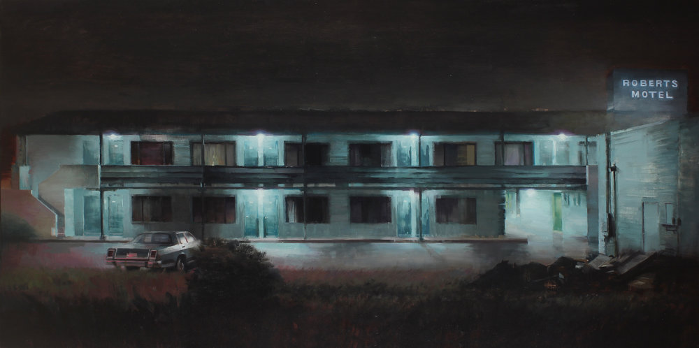 Old Roberts Motel 42 X 84 inches oil on canvas
