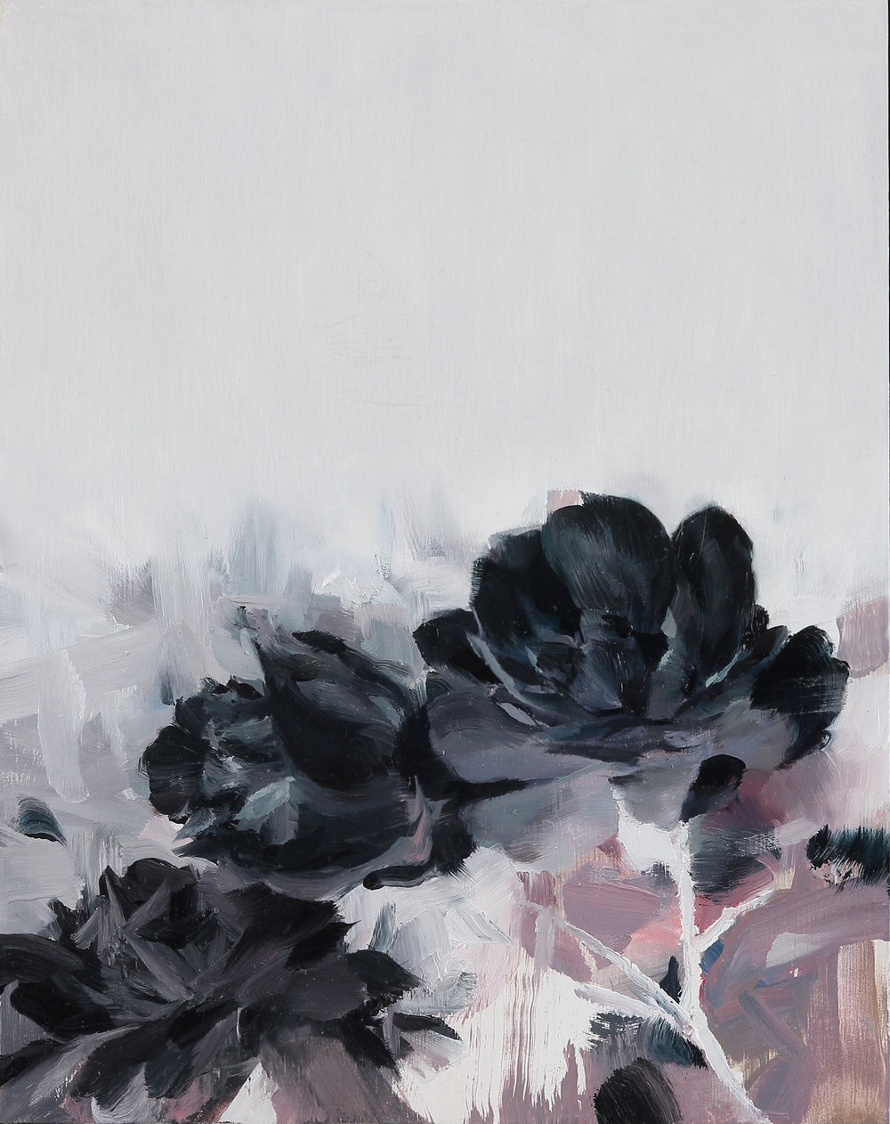 Memento Mori flowers, 10 X 8 inches, oil on panel