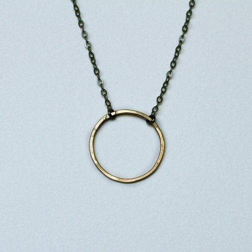grande necklace pendant sterling silver products oxidized circle with
