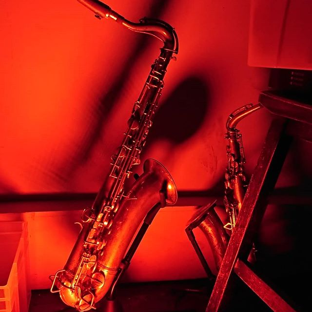 Sexy sax lights by @bzzlemusic #secondline #dj #music #gig #sundayfunday