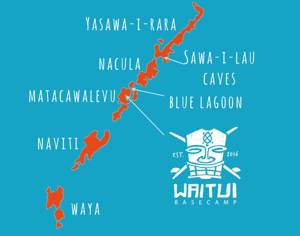 Yasawa Island Map Fiji