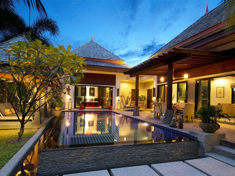 The bell pool villa resort for Pool villa design