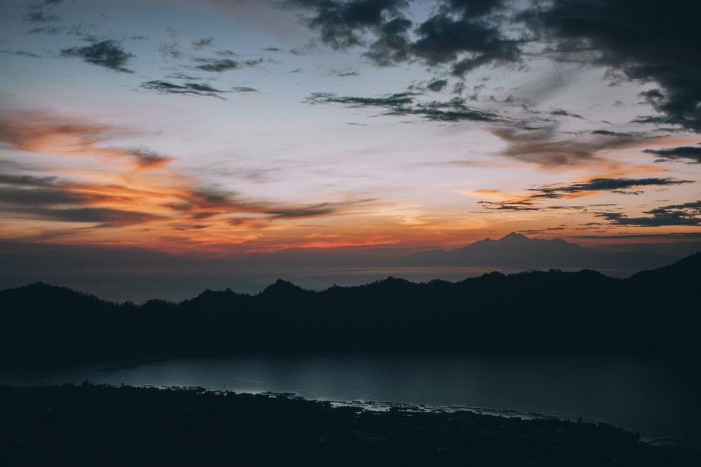 Sunrise hike up Mt Batur