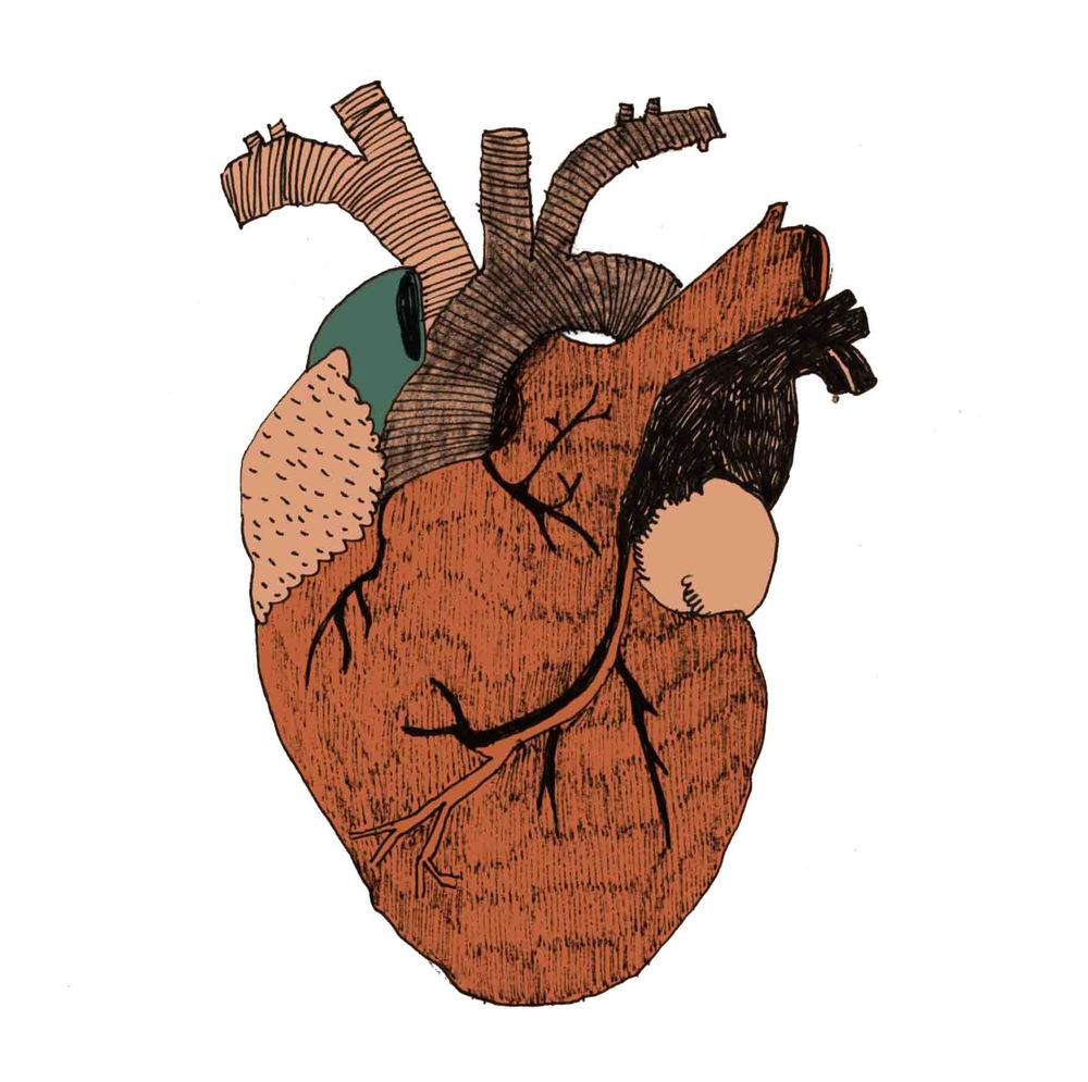 Heart I consider myself a sensitive person, which makes me an adult emo. I drew this heart for those who carry a WIP heart with them.