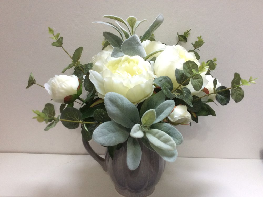 Biggie best jug filled with silk flowers potting shed posies a silk flower order in a biggie best jug a gorgeous house warming gift mightylinksfo