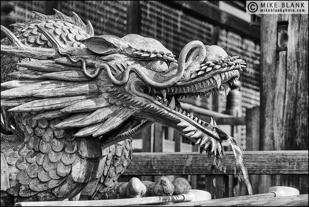 Dragon Fountain, Kiyomizu Temple, Kyoto 1991