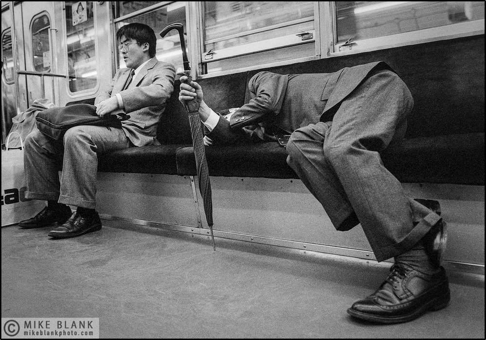 Umbrella Guy, Tokyo Subway 1991