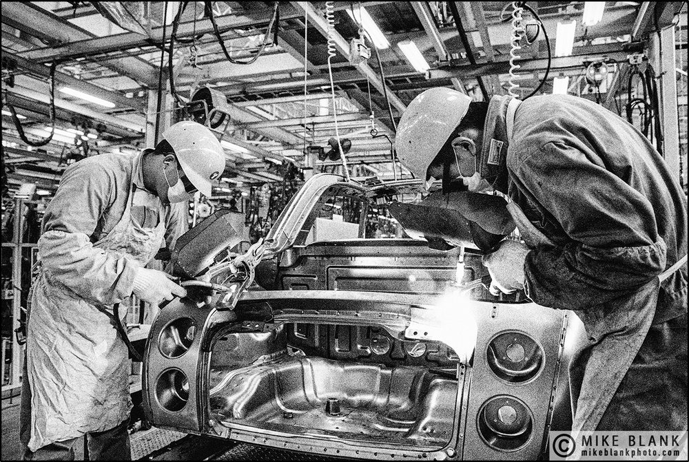 Nissan Figaro car  production line, Yokohama 1991