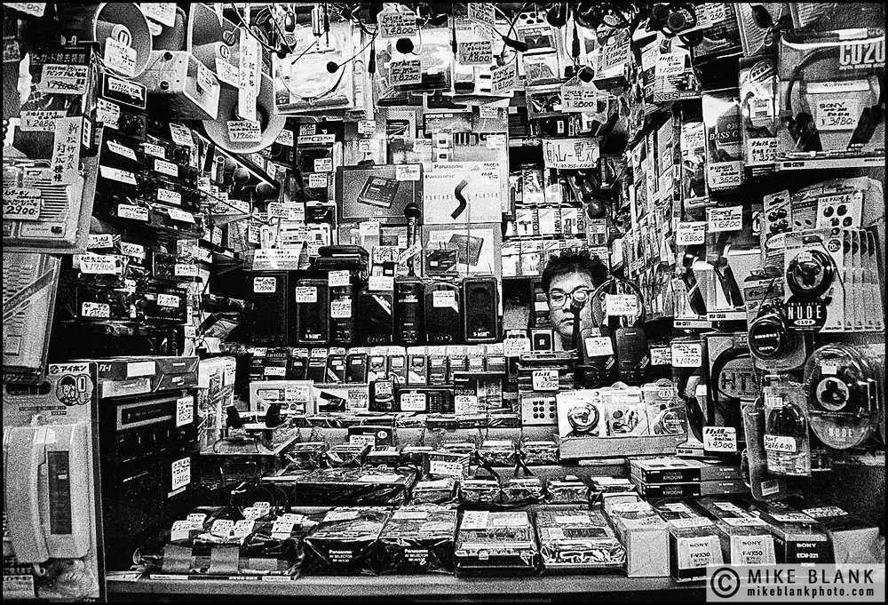 Electronics shop, Akihabara, Tokyo, 1991