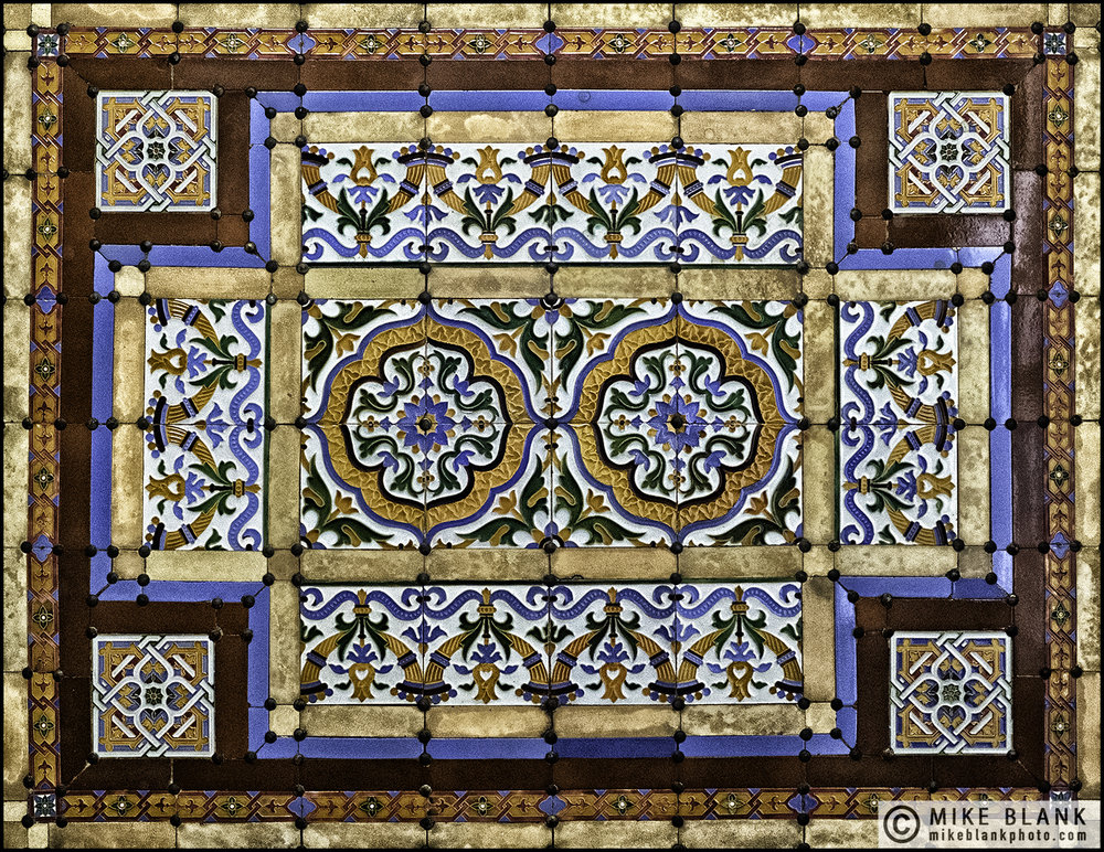 Ceiling tiles, Foreign Office, London 2016