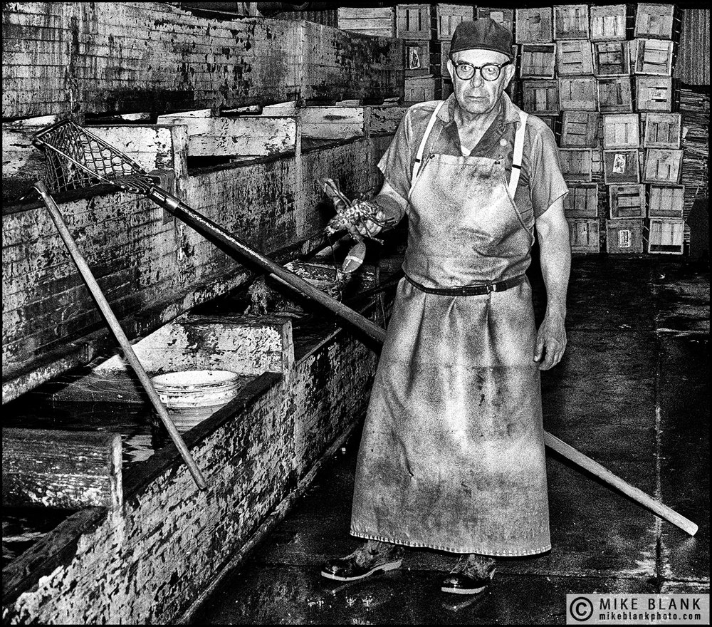 Lobster man, Boston Fish Market, USA 1989