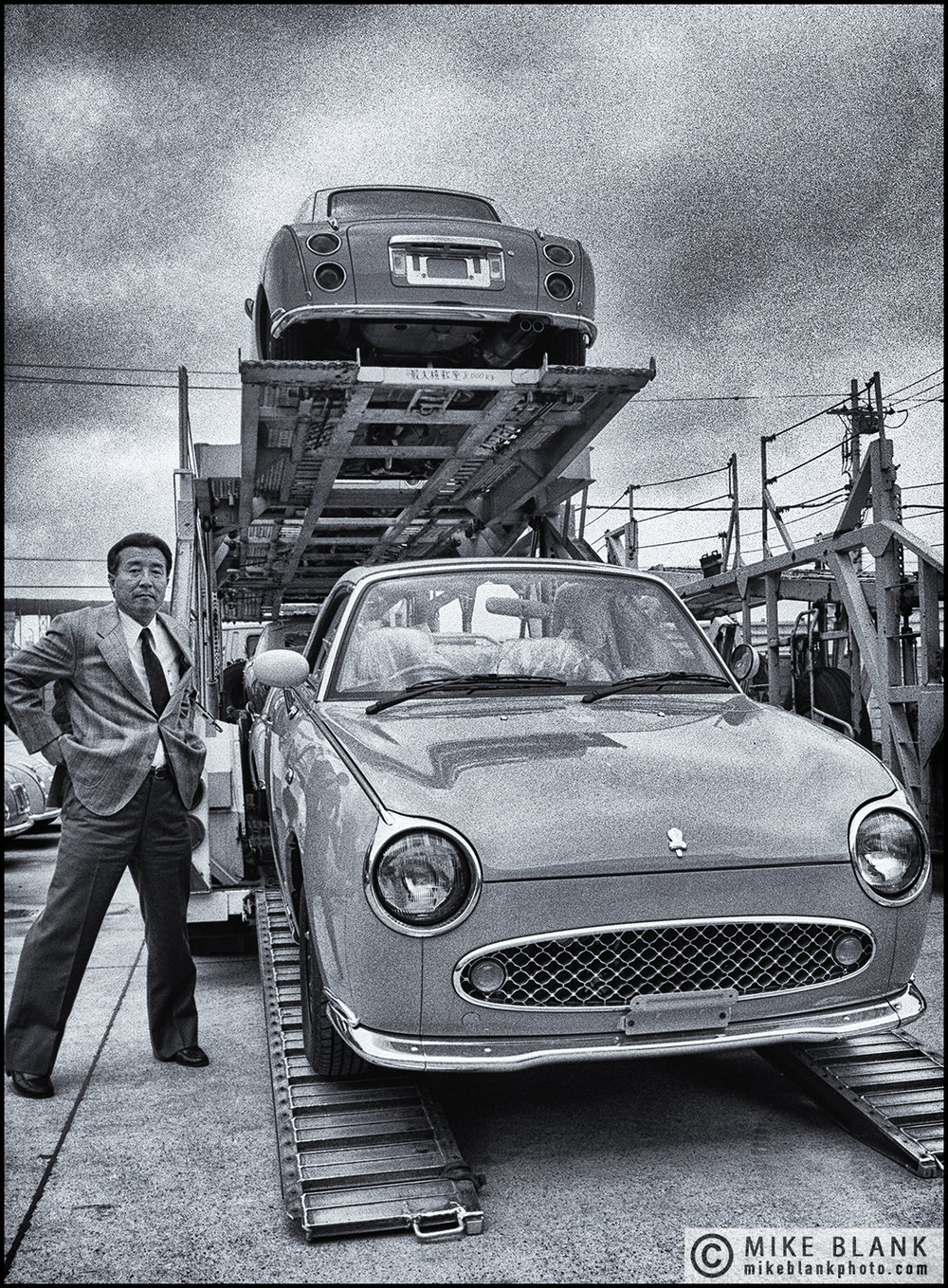 Yasuhiko Honma, Head of Design, Figaro car plant, Yokohama, Japan 1991