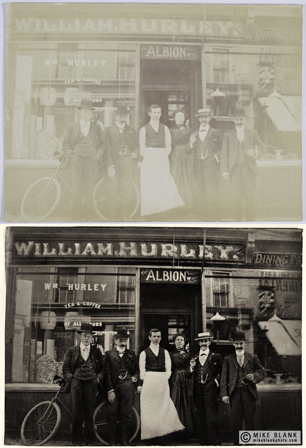 Digital restoration: William Hurley / The Albion, Isle of Man