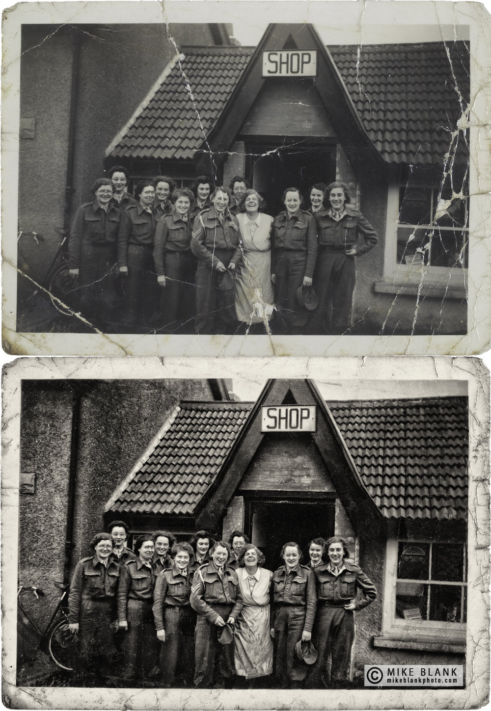 Digital restoration: Women of the Auxiliary Territorial Service (ATS), British Army 1940s