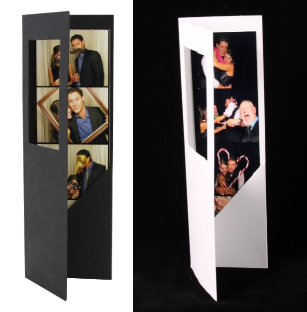 Black or White Photo Strip Frame Cards