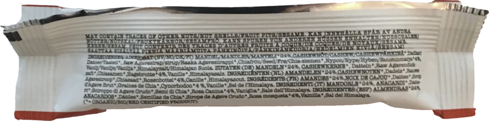 Printed ingredient list in eng /us / sv / no / dk / fi / de / nl / it / esp / fr