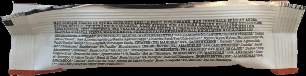 Printed ingredient list in eng /us / sv / no / dk / fi / de / nl / it / esp / fr