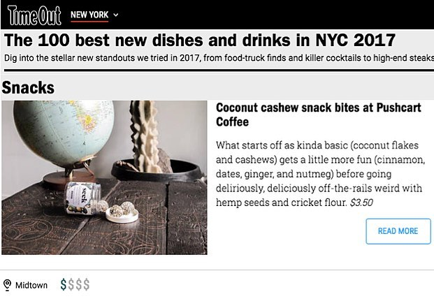 Thank you @timeoutnewyork for including us in your list of the 100 best dishes and drinks of 2017! This is a great way to end an incredible year, we are so grateful! And you can head over to our friend's at @pushcartcoffee to try our snacks!