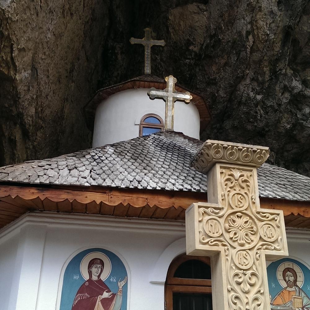 Site visit, Pestera cave monastery, Romania.