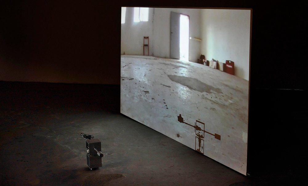 Site-performance of  Kostka , Meetfactory (center for contemporary art) Prague, 2016.