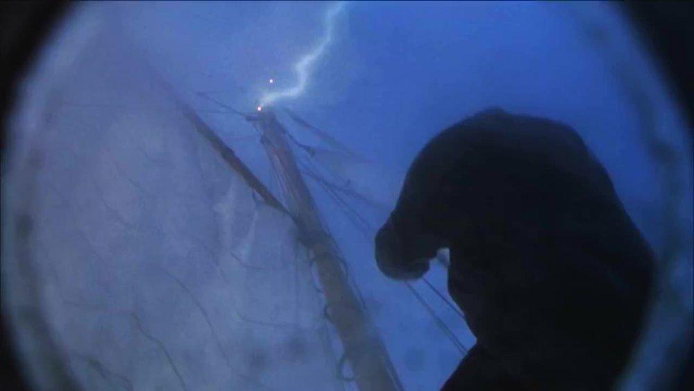 He can't sail away.