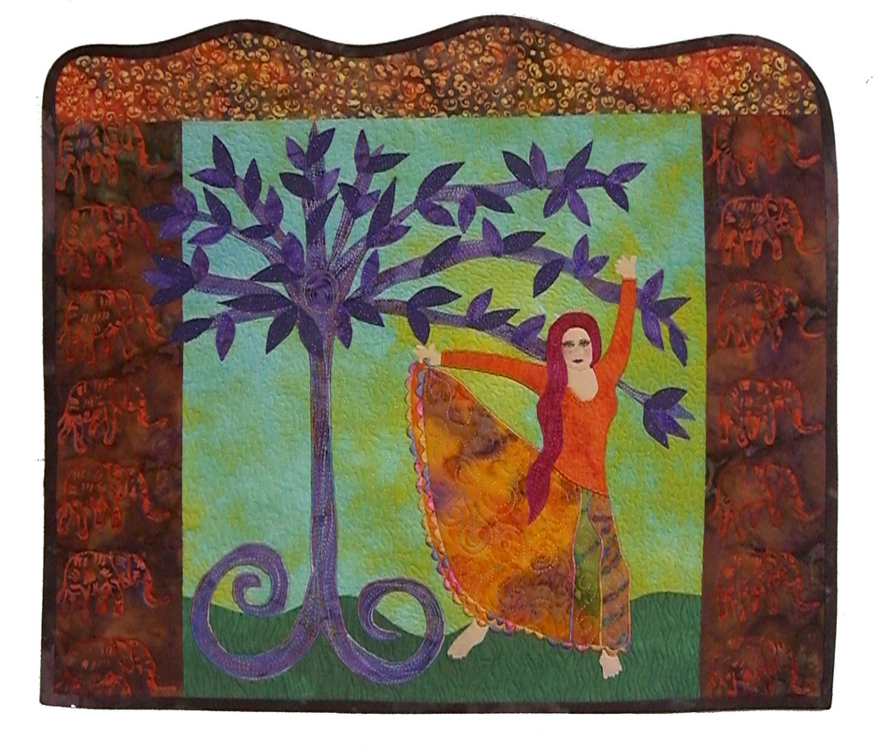 Woman With Purple Tree