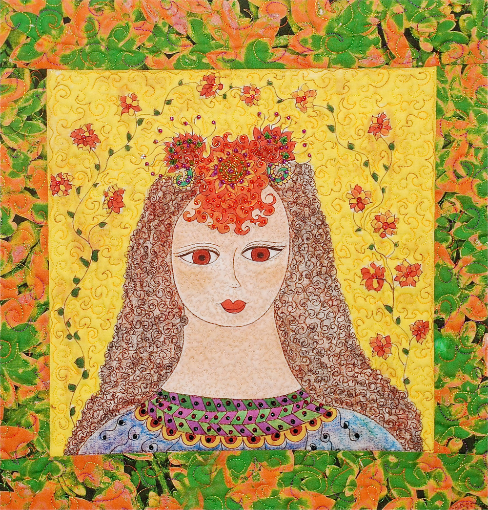 Woman With Orange Beaded Headdress
