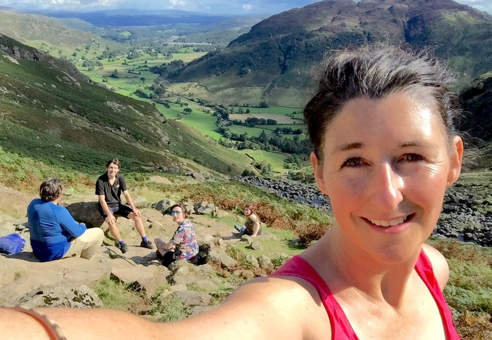 """The realisation that I'm fitter than I thought moment. My family now well and truly fed up with my enthusiasm,I stop but only to take yet another selfie. This really is a feel good moment.""""Lets get going then, what's next and I want to do that!"""""""
