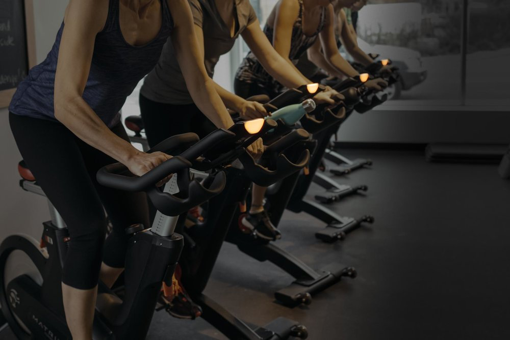 Group Fitness.  Personalized. - Our Matrix IC7 bikes personalize the class to you through the Coach by Colour system.  We discover your fitness level on the bike through a FTW (functional threshold wattage) calculation and tailor the intensity on the bike to you with our 4 colour training zones.