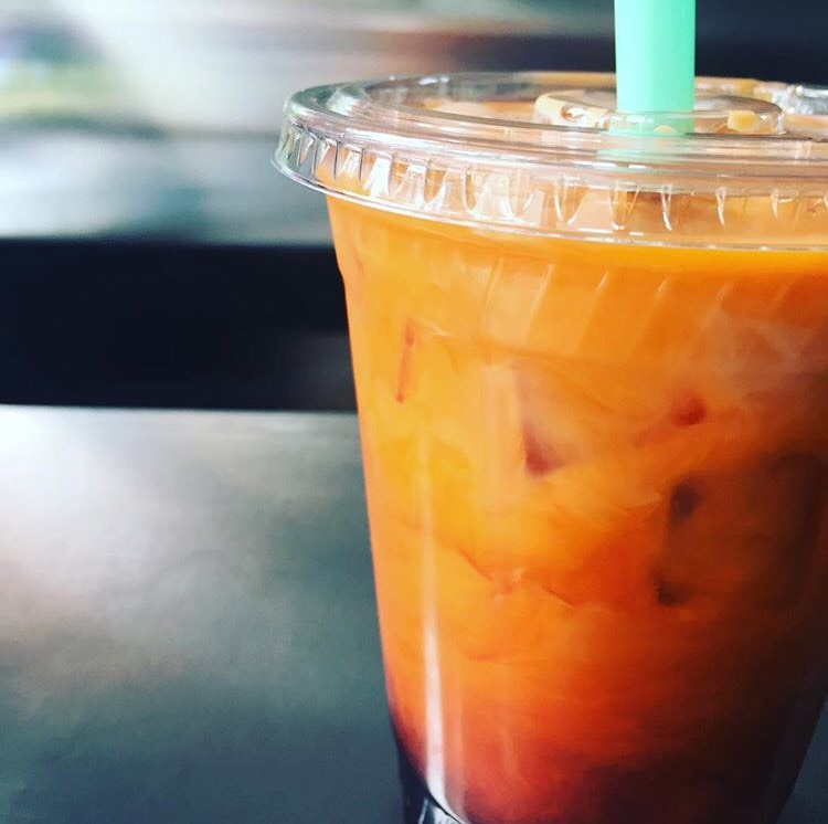 Our refreshing Thai Tea with boba.
