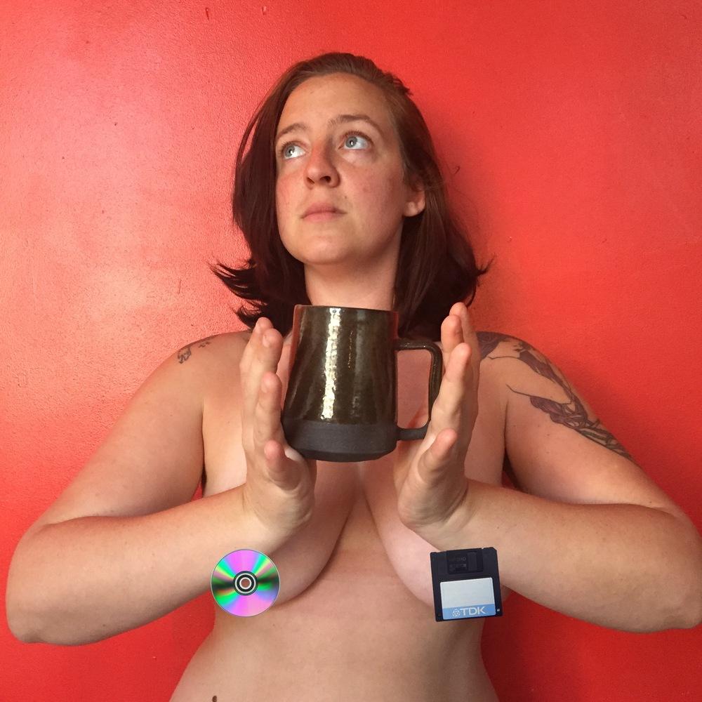 Abby with a mug