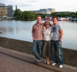 Di with sons Matt and Dan